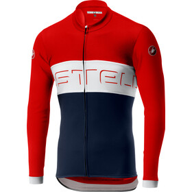 Castelli Prologo VI Maillot à manches longues zippé Homme, fiery red/ivory/dark infinity blue